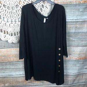 Misia Oversize Tunic Black Plus size 3x